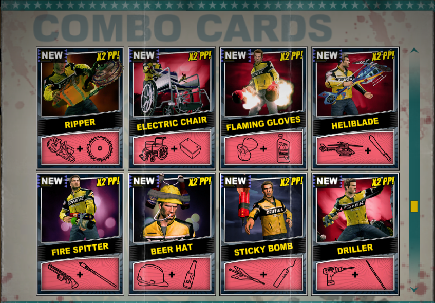 Dead Rising  Crafting Cards