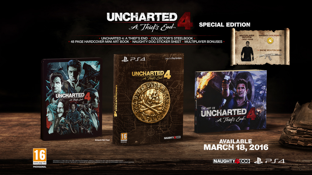 uncharted 4 collector's