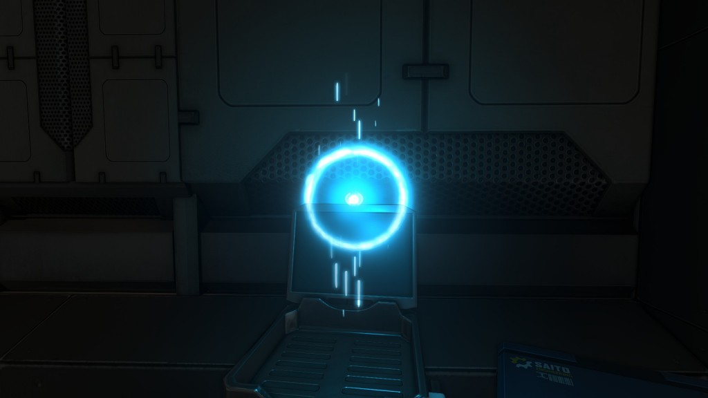 These blue orbs contain audio logs, which contain story-related information