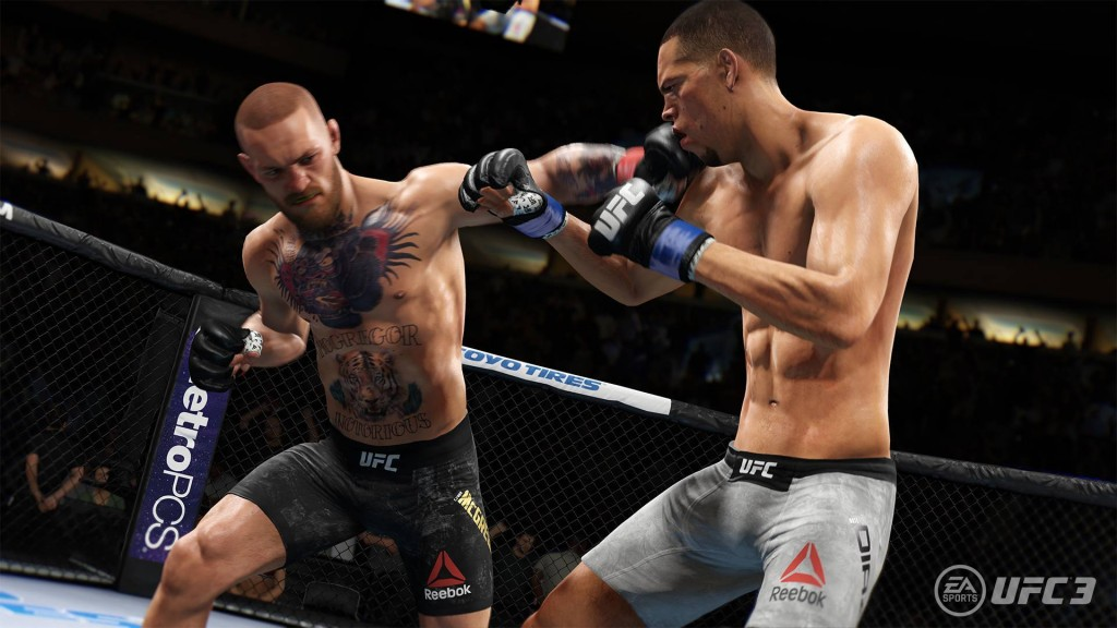 The tutorial lets you control the game's poster boy, Conor McGregor