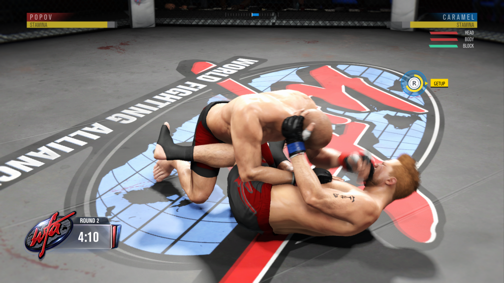 The controls for submission moves are confusing and don't give enough feedback